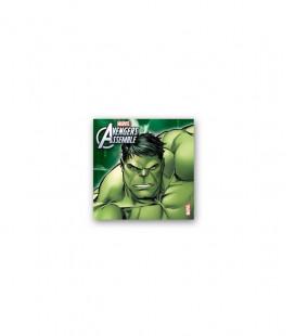 Avengers Hulk - Tovaglioli 33x33 cm - 20 pezzi
