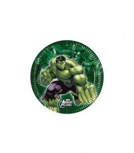 Avengers Assemble - Piatto 20 cm - 8 pezzi