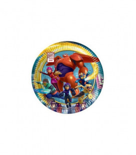 Big Hero 6 - Piatto 20 cm - 8 pezzi