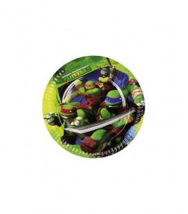Tartarughe Ninja - Piatti 23cm - 8 pezzi