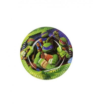 Tartarughe Ninja - Piatti 18 cm - 8 pezzi