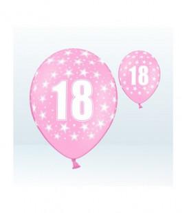 Palloncini 18° compleanno Rosa - Ø 30 cm - confezione da 25