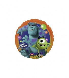 Monsters University - Happy Birthday Foil - Ø 42 cm