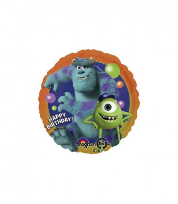 Monsters University - Happy Birthday Foil - Ø 42 cm
