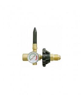 Manometro con regolatore di pressione per bombole di elio