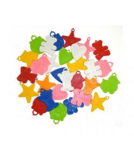 Pesetti colorati per palloncini - 100 pezzi x 8 g
