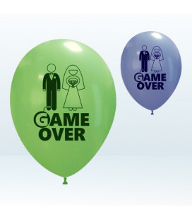 "Palloncini metal Assortiti ""Game Over"" - Ø 27 cm - conf da 25"