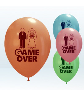 "Palloncini metal Assortiti ""Game Over"" - Ø 27 cm - conf da 50"