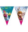 Frozen - Festone bandierine triangolari plastica 280 cm