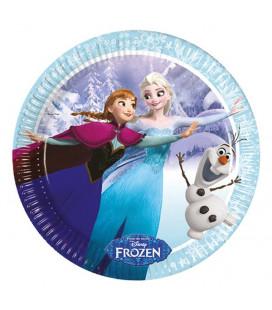 Frozen - Piatto Ice Skating 23 cm - 8 pezzi