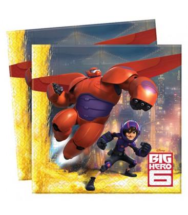 Big Hero 6 - Tovaglioli 33x33 cm - 20 pezzi