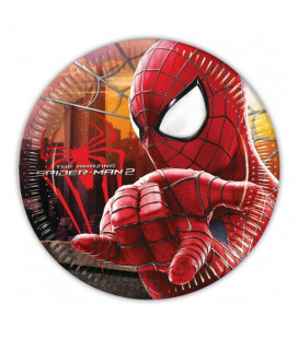 The Amazing Spiderman - Piatti 23 cm - 8 pezzi