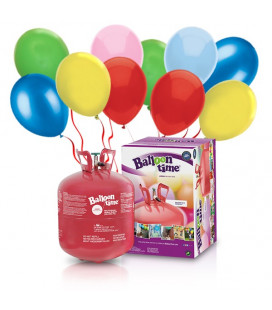 Kit Elio LARGE + 50 palloncini assortiti biodegradabili - Ø 23 cm