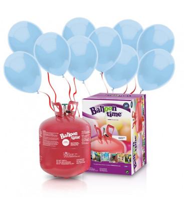 Kit Elio LARGE + 50 palloncini azzurri - Ø 23 cm