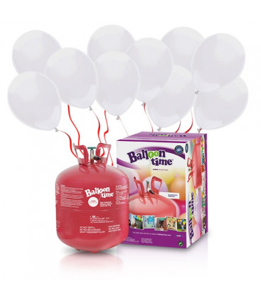 Kit Elio LARGE + 50 palloncini bianchi - Ø 23 cm