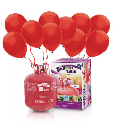Kit Elio LARGE + 50 palloncini rossi - Ø 23 cm