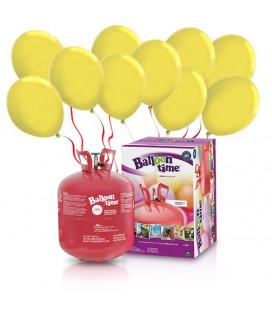 Kit Elio LARGE + 50 palloncini gialli - Ø 23 cm