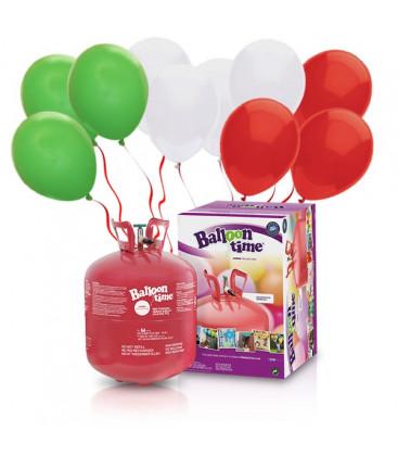 Kit Elio LARGE + 50 palloncini Italia - Ø 23 cm