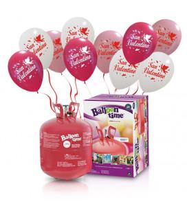 Kit Elio LARGE + 30 palloncini assortiti San Valentino - Ø 30 cm