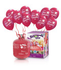 Kit Elio LARGE + 30 palloncini San Valentino rossi - Ø 30 cm