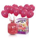 Kit Elio LARGE + 30 palloncini rossi globo cuori - Ø 30 cm
