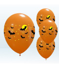 Kit Elio LARGE + 30 palloncini assortiti Halloween - Ø 27 cm