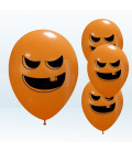 Kit Elio LARGE + 30 palloncini assortiti Halloween - Ø 27 cm