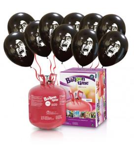 Kit Elio LARGE + 30 palloncini Dracula - Ø 27 cm