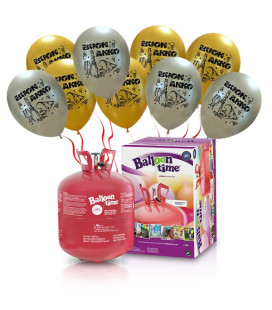 "Kit Elio LARGE + 30 palloncini assortiti ""Buon Anno"" - Ø 27 cm"