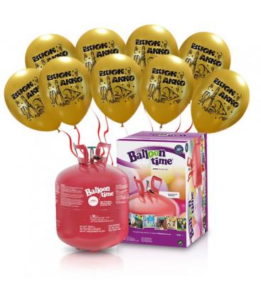"""Kit Elio LARGE + 30 palloncini oro """"Buon Anno"""" - Ø 27 cm"""