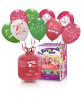 Kit Elio LARGE + 30 palloncini assortiti natalizi - Ø 30 cm