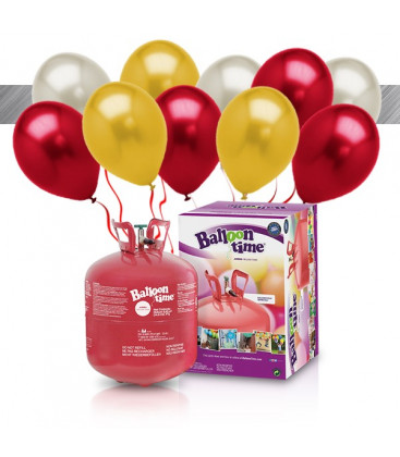 Kit Elio LARGE + 30 palloncini metallizzati assortiti - Ø 27 cm