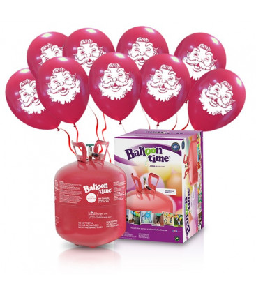 "Kit Elio LARGE + 30 palloncini rossi ""Babbo Natale"" - Ø 30 cm"