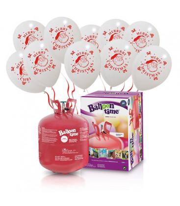 "Kit Elio LARGE + 30 palloncini bianchi ""Merry Christmas"" - Ø 30 cm"