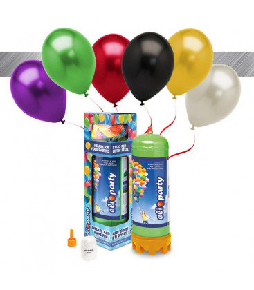 Kit Elio MEDIUM + 16 palloncini metallizzati assortiti - Ø 27 cm