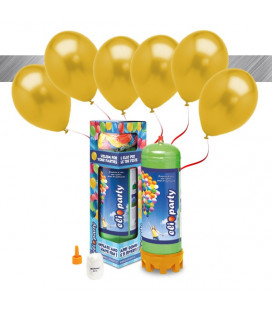 Kit Elio MEDIUM + 16 palloncini metallizzati oro - Ø 27 cm
