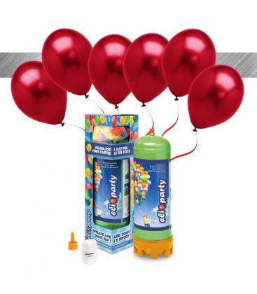 Kit Elio MEDIUM + 16 palloncini metallizzati rossi - Ø 27 cm