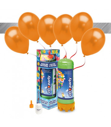 Kit Elio MEDIUM + 16 palloncini metallizzati arancio - Ø 27 cm