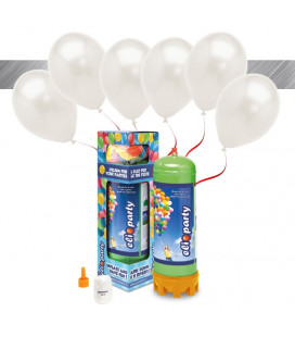 Kit Elio MEDIUM + 16 palloncini metallizzati avorio - Ø 27 cm