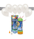 Kit Elio MEDIUM + 16 palloncini metallizzati bianchi - Ø 27 cm