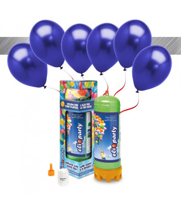 Kit Elio MEDIUM + 16 palloncini metallizzati blu - Ø 27 cm