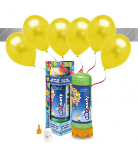 Kit Elio MEDIUM + 16 palloncini metallizzati gialli - Ø 27 cm