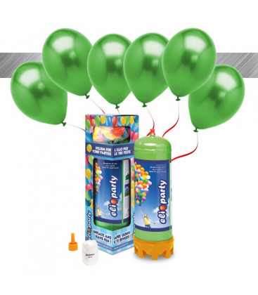 Kit Elio MEDIUM + 16 palloncini metallizzati verdi - Ø 27 cm
