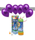 Kit Elio MEDIUM + 16 palloncini metallizzati viola - Ø 27 cm