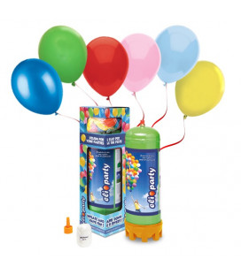 Kit Elio MEDIUM + 30 palloncini assortiti biodegradabili - Ø 23 cm
