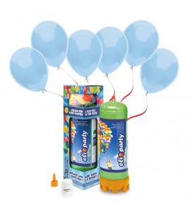 Kit Elio MEDIUM + 30 palloncini azzurri biodegradabili - Ø 23 cm