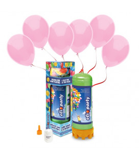Kit Elio MEDIUM + 30 palloncini rosa - Ø 23 cm