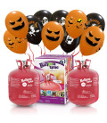 Kit Elio X-LARGE + 60 palloncini assortiti Halloween - Ø 27 cm