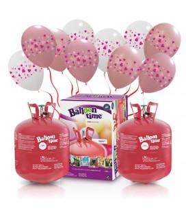 Bombola elio MEDIUM + 30 palloncini assortiti