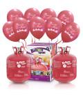 "Kit Elio X-LARGE + 60 palloncini rossi ""Buone Feste"" - Ø 30 cm"